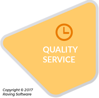 Quality Service is one of the 8 components of Raving Software's philosophy.