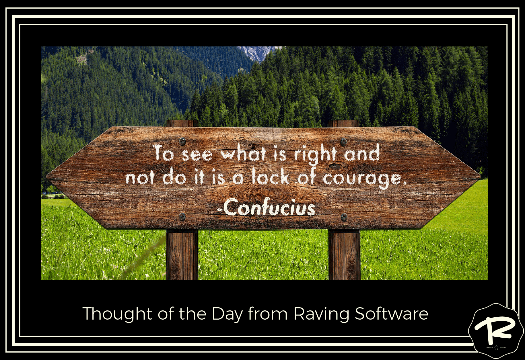 To see what is right and not do it is a lack of courage. —Confucius
