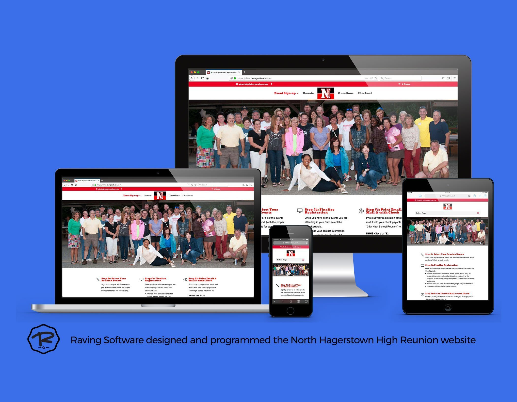 The NHHS Class of 1982 website created by Raving Software